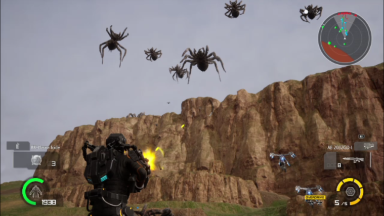 EDF spiders
