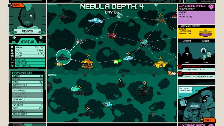 Void Bastards Galaxy map